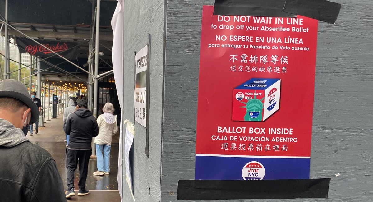 Day Four Of Early Voting Starts Midday As Turnout Continues To Surge In NYC